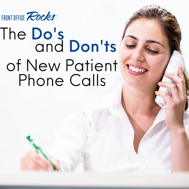 The Do's and Don'ts of New Patient Phone Calls 800x800